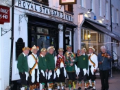 Royal Welcome for Green Ginger Morris Men