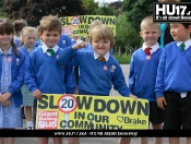 Walking Bus Sends Clear Message To Motorists To Slow Down!