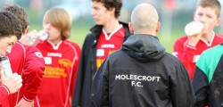 Molescroft FC started 2012 with a comfortable 8-1 home win against Pinefleet Wolfreton. The midfield and forwards linked well for Molescroft and kept Pinefleet AFC to the occasional counter attack.
