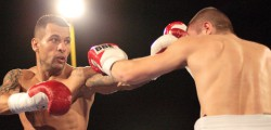Super Featherweight Samir Mouneimne set his self up with a shot at the English title as he overcame Pavel Sekouf at the Bonus Arena. A former pupil of Beverley Grammar School Samir fights from the St Paul's Amateur Boxing Academy in Hull.