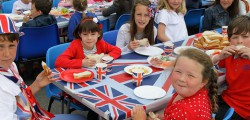 Pupils and staff from Woodmansey Primary School got into the Jubilee spirit with a special party. The event which had a red, white and blue theme saw children dress in a range of outfits that included the Queen