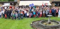 The bad weather did not stop the residents of Westwood Road who, joined by family and friends celebrated the Queen's Diamond Jubilee with a giant garden party.