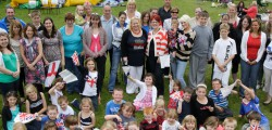 Residents from the St Nicholas area of Beverley held a street party to mark the Queen's Diamond Jubilee. Held in the school field children enjoyed games, a bouncy castle and a picnic.