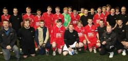 Molescroft FC played their sponsors, Miller Griffin under the lights at Longcroft School. Ahead of the game Paul Griffin felt that the 'old boys' could hope to get something from the game pointing out although they