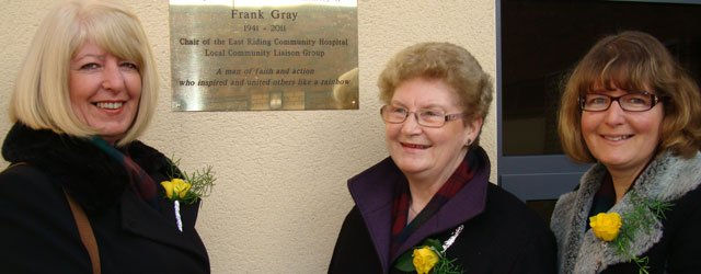 Garden at East Riding Community Hospital, Beverley dedicated to Frank Gray 1941 – 2011