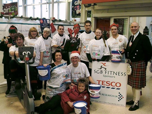 Staff At Tesco In Beverley Raise Over £1500 For Cancer Research