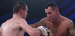 Hull fighter Samir Mouneimne Jr took the next step as he beat David Savage in a British featherweight title eliminator at the Hull Sports Arena.