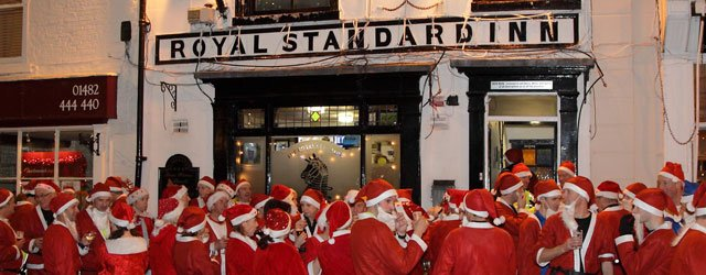 Santa's Invade The Royal Standard