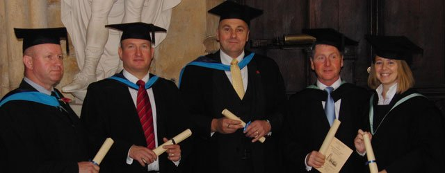 DST Staff Collect Their awards At Beverley Minster