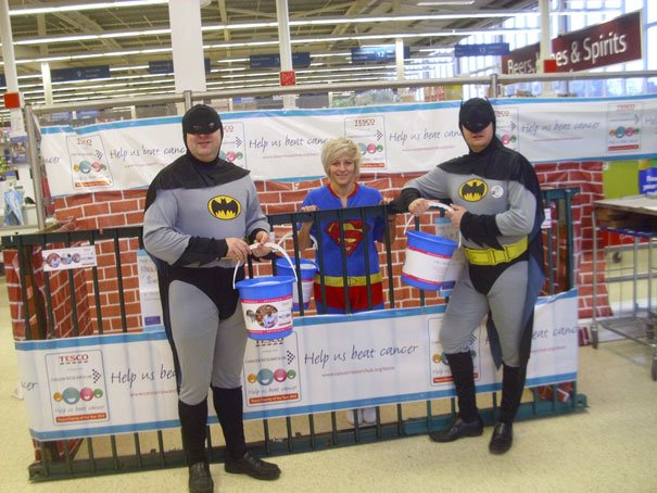 Heroes Weekend At Tesco Raises Over £1000 For Cancer Research UK