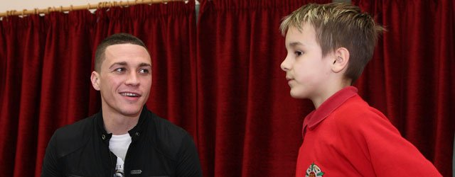 Hull City's James Chester Visits Swinemoor School