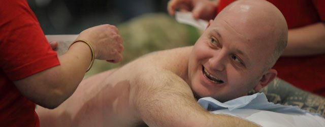 Red Nose Day : Men Are Waxed In Aid Of Comic Relief