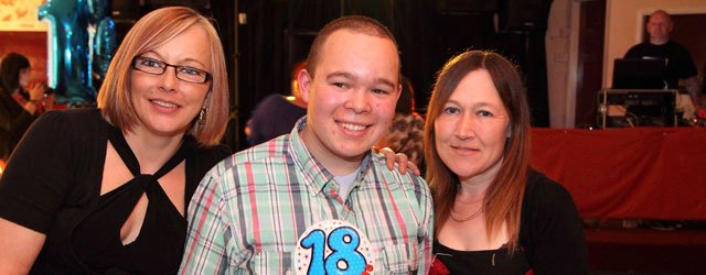 Leslie Thorn celebrated his 18th birthday with friends and family at Armstrongs Social Club. Leslie who is known as Lezzel to his friends and works at Longcroft School enjoyed a disco