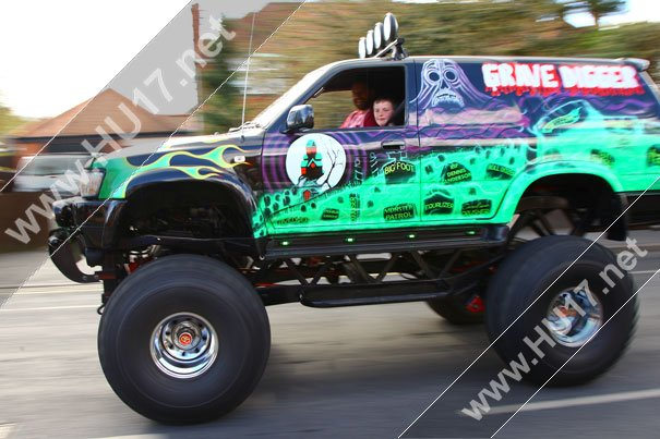 A Ride In The Grave Digger For Riley Brumpton