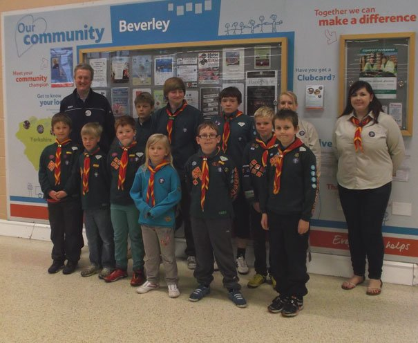 Beverley Shoppers Support Beverley District Scouts' Tesco Bag Pac
