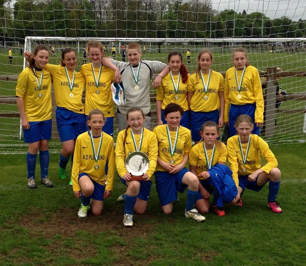 Mill Lane United Blues With Plate Final