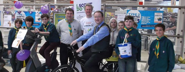 Tesco's & 5th Beverley (Wesley) Scout Group's Static Bike Challenge Raises £433