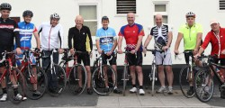 Nine local cyclists are hoping to raise £5,000 for the Dove House Hospice Love You 2 Appeal by cycling from Morecambe to Bridlington.