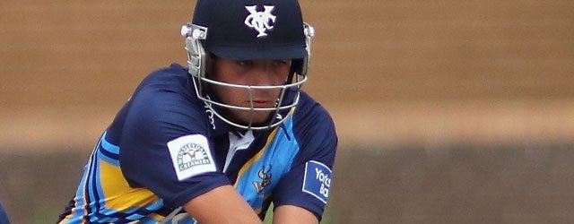 COUNTY CRICKET : Fine Innings From Leaning Earns Yorkshire The Spoils