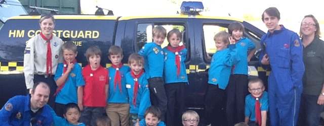 Coastguard Rescue Officers Show Beaver Scouts How To Stay Safe