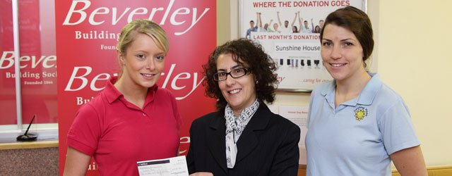 Sunshine House Grateful For Donation From Beverley Building Society