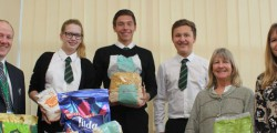 Students and staff at Longcroft School have been supporting a local charity by collecting vital resources for the people in the disaster-struck Philippines.