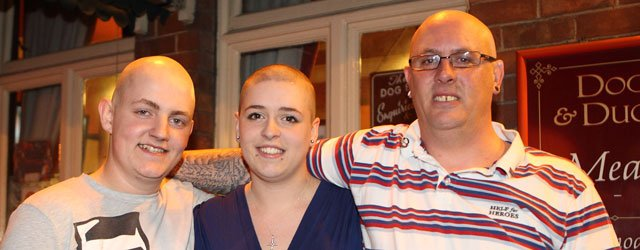 Trio Have Their Heads Shaved In Support Of Friend