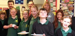 Students taking part in an innovative national scheme, prepared a Shrove Tuesday breakfast for their teachers and classmates at Longcroft School.