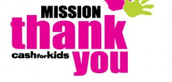 Continuing the momentum of the annual Mission Christmas campaign and supported by research finding that 80% of us believe we don't thank enough, Viking FM's Cash for Kids launch Mission Thank You