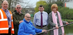 East Riding of Yorkshire Council has improved four fishing pegs at Beverley Beck for disabled anglers.