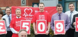 Friends and colleagues from Yorkshire Bank (York Office) have raised £5000 for the British Heart Foundation (BHF) by taking on The Minster Way last year, in memory of a friend and colleague.