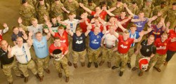 On Friday and students at the Defence School of Transport wore their football shirts with pride in aid of the Bobby Moore Fund.