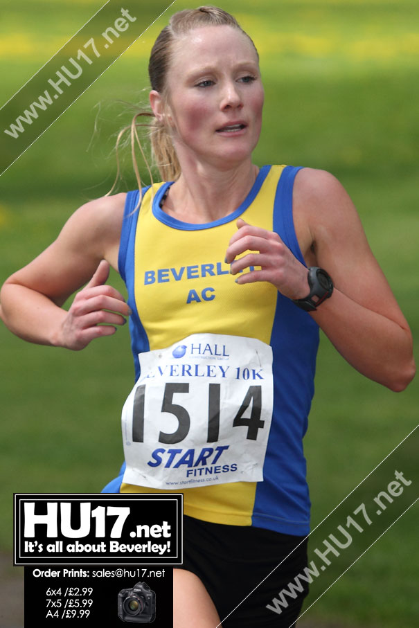 Carla Stansfield First Lady To Cross The Line At Walkington 10K