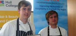 Two young local chefs from the region's top restaurants are celebrating after being chosen as the winners of the Hull and East Yorkshire Hospitality Association (HEYHA) Copper Saucepan Award cook-off.