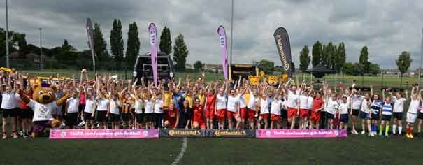 Girls Get Inspired At The Fa Girls' Football Festival In Hull