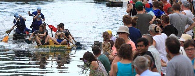 Annual N.U.R.S.E. Raft Race On The Beverley Beck