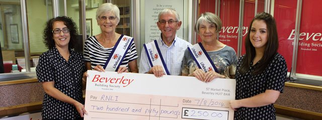 RNLI Voted Beverley Building Society's Charity of the Month