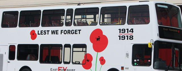 Local Transport Company Roll Out Poppy Bus