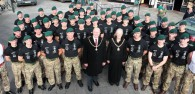 Around 60 Royal Marines Commandos marched through the centre of Beverley while completing a 9 mile booted run.
