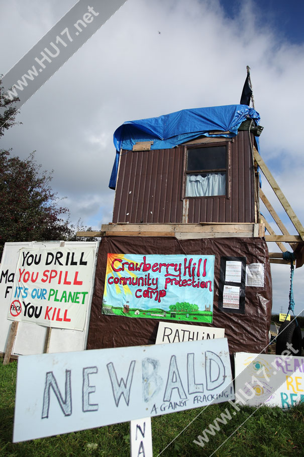 Crawberry Hill Anti Fracking Protester Arrested