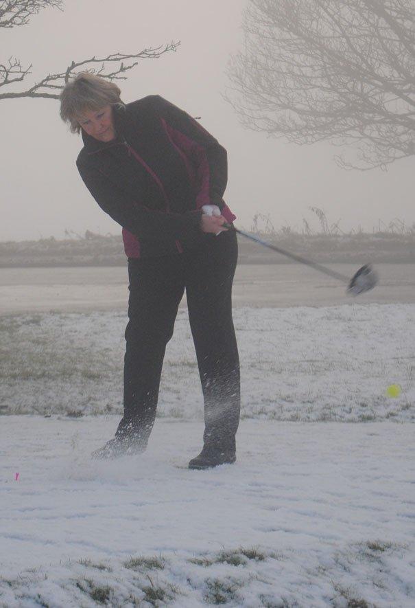 Ladies Golf Captain Linda Dale Refuses To Let Fog Ruin Her Day