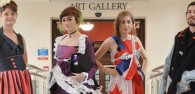 Tea Bag Dress Among Recycled Fashion At Student Competition