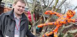 Pupils at St Nichols School in Beverley have been busy working a long term project that has seen them created some giant sculptures for their garden.