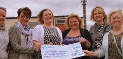 Beverley RUFC Ladies Committee have handed over the money they raised at the clubs Ladies Day event back in March.