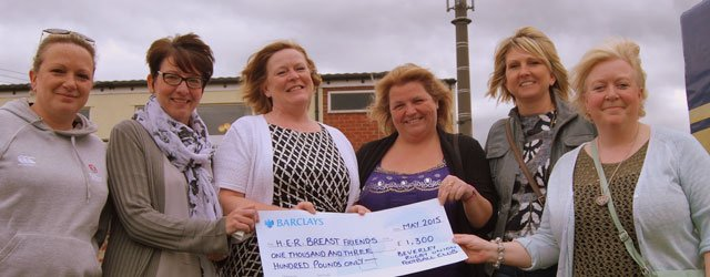 Beverley Rugby Club Present H.E.R Breast Friends With Over £1000