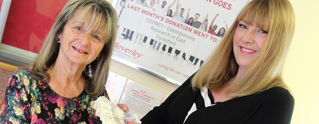 Beverley Building Society Charity of the Month Won By OSPREY