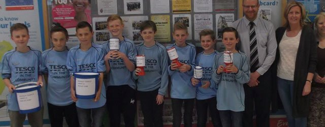 Beverley Town U12s Pack Bags For Cash At Tesco