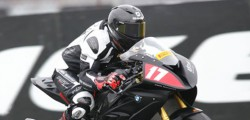 After holding ninth position for much of the National Superstock race at Donington Park on Sunday Beverley rider Dominic Usher was unfortunate to clip the back of