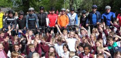 Children Beverley Minster Primary School are set to get smart new sports kit thanks to the efforts of 12 cyclists which included their head teacher completed a 60-mile bike ride.