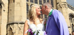Julie Short married Tony Foots at St Mary's Church in Beverley at wedding that had a special twist.
